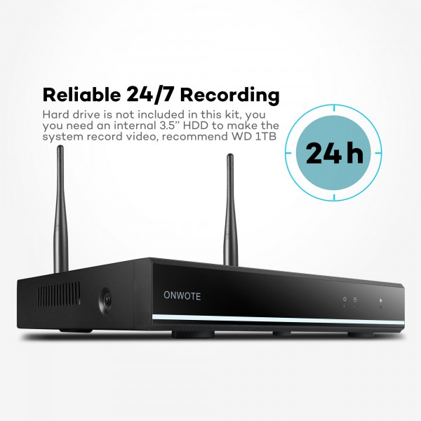 960P HD Auto-Pair Wireless】ONWOTE Outdoor Wireless Home Security ...