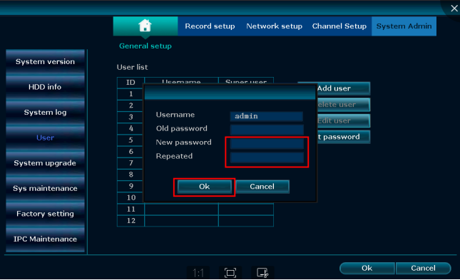 How to reset password for NVR recorder_Wireless HD